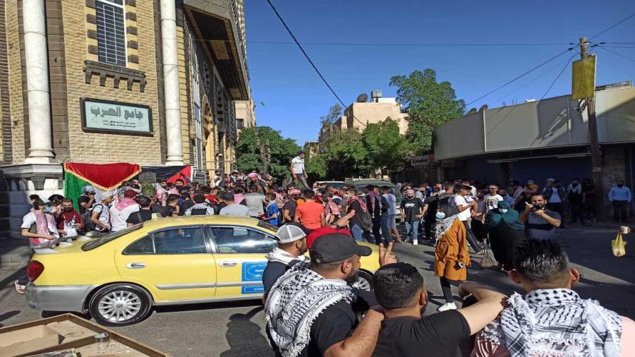 آلاف الأردنيين يحتشدون قرب الحدود مع فلسطين3