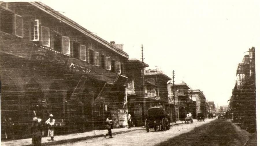 شارع-الرشيد-–-بيت-لنش-–-1920-شركة-بواخر-إنكليزيّة