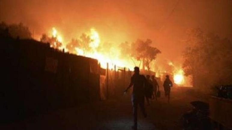 حريق جديد في مخيمات اللاجئين باليونان