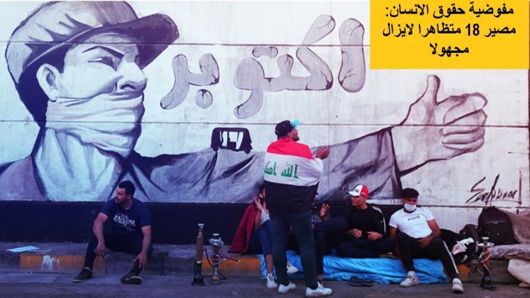 مفوضية حقوق الانسان: مصير 18 متظاهرا لايزال مجهولا