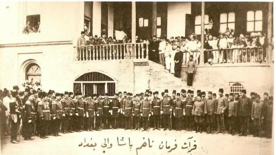 قراءة-فرمان-ناظم-باشا-–-والي-بغداد-العثماني-–-1910