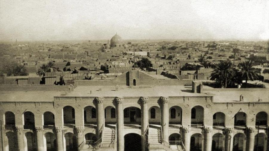 منظر-للسراي-الحكومي-في-بغداد-عام-1918