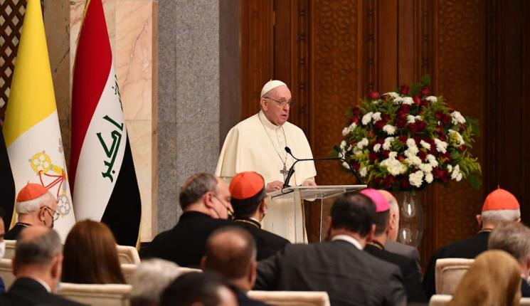 كلمة متلفزة لبابا الفاتيكان من قلب بغداد: كفى عنفاً وفساداً ولتصمت الأسلحة