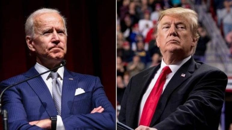 """ترامب يصف بايدن بـ""""الغبي"""".. و""""جو"""" يرد: الرئيس """"غير أميركي"""""""